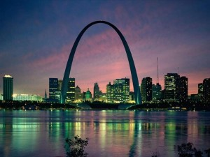 Gateway Arch In St. Louis Missouri