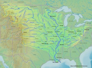 Large Map Of The Mississippi River