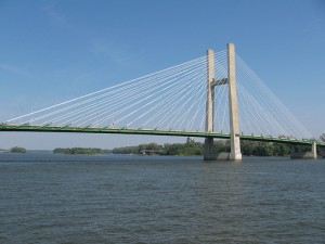 Mississippi Great River Bridge In Burlington Iowa