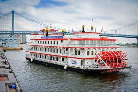 Paddlewheel River Boat On The Cruise