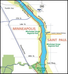 Map Of Mississippi River Gorge