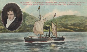 Robert Fulton And His Steamboat Clermont