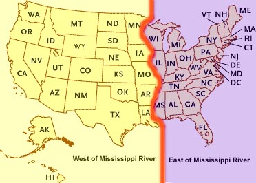 United States Mississippi River Map Save Map The United States With ...